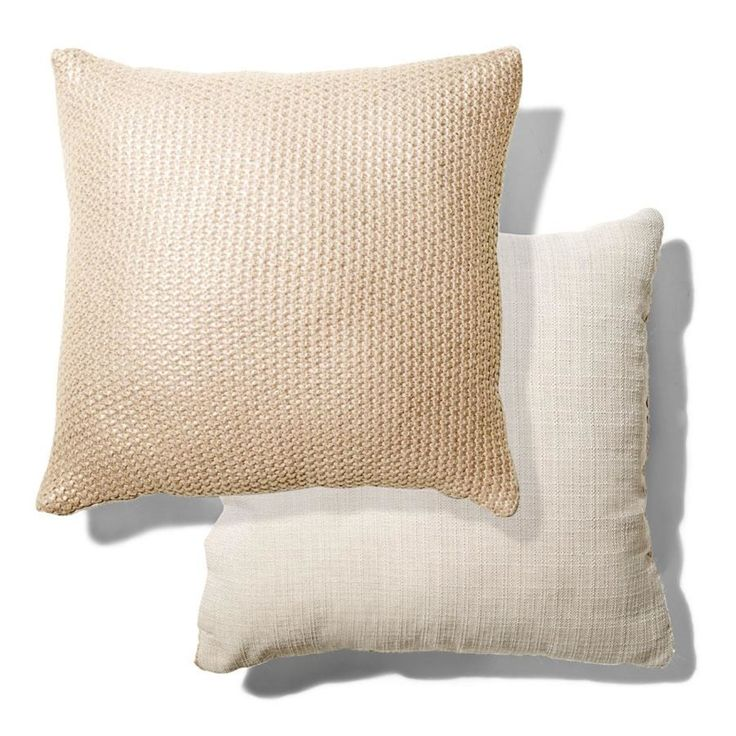 mtalic Knitted Cushion homemaker