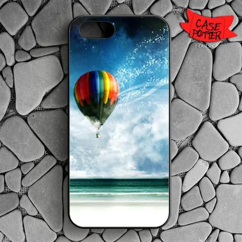 Air Balloon iPhone SE Black Case