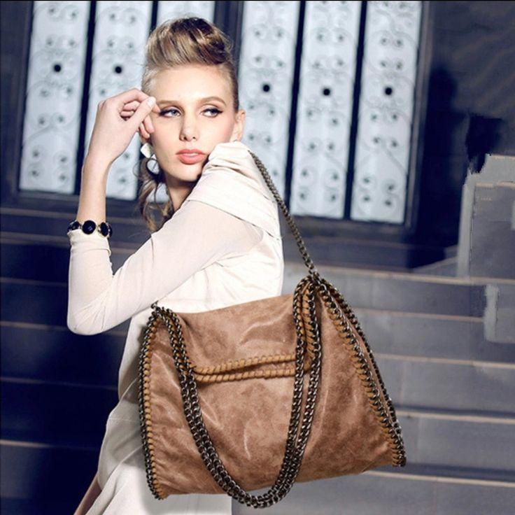 """Noway Girl"" PU Leather Chain Boho Bag"