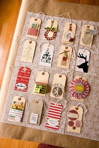 Turn old Christmas cards into gift tags