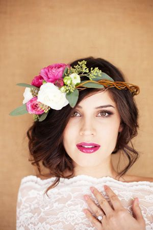 Brides of adelaide magazine - bright wedding -  headpiece.