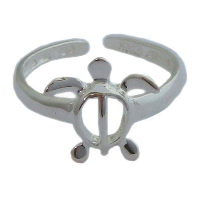 Hawaiian Jewelry Sterling Silver Honu Turtle Toe Ring