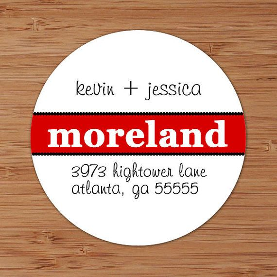 Bold Surname Custom Personalized Address Labels by PoshGirlBoutique