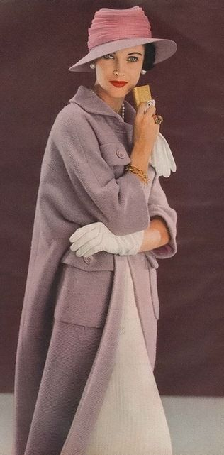 Vogue 1957.  Picture wearing this in the snowy city (or anywhere!)  Fabulous coat, scrumptious color.