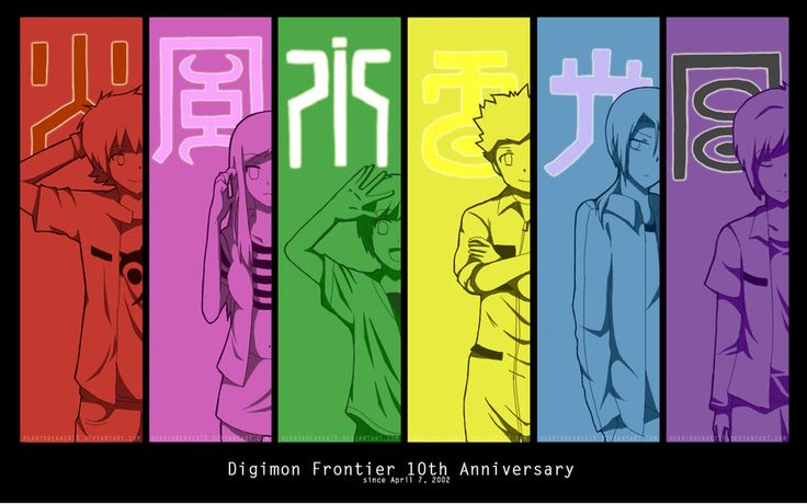 Digimon Frontier 10th Anniversary by heartbreaker19.deviantart.com on @DeviantArt