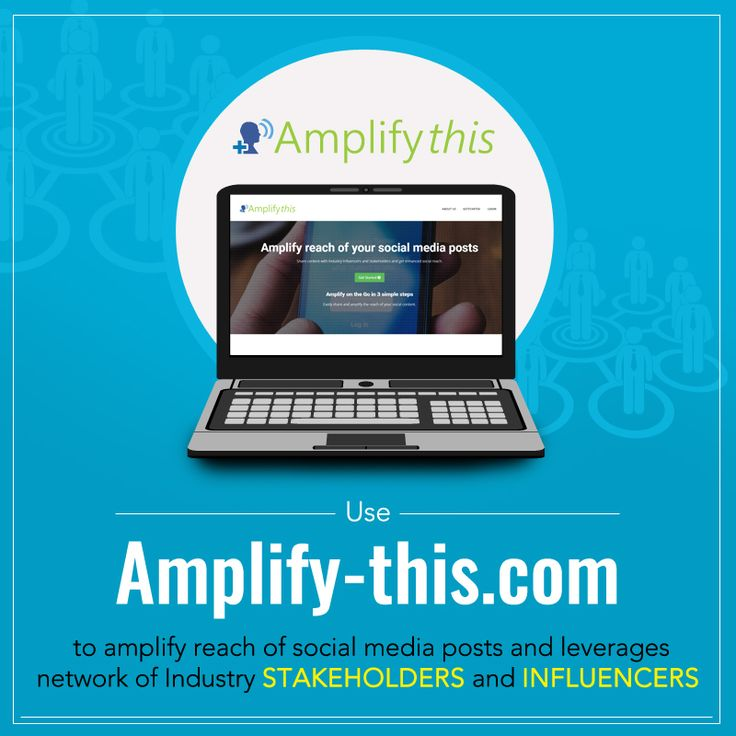 Amplify-this provides an easy-to-use platform to enhance reach of social media posts and leverages network of Industry Influencers and Stakeholders. For details, visit: http://bit.ly/2kZqgdl #SocialMediaMarketing