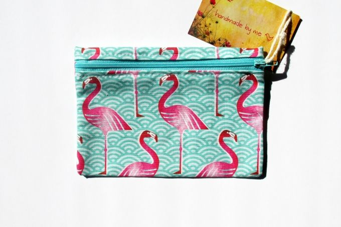 Pink Flamingo! Purse by handmade by me