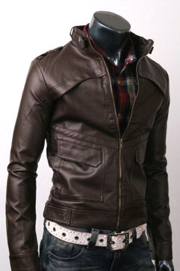 Men S Jacket Fashion Look Leather Jacket Brown Leather Jacket Leather Jacket Men