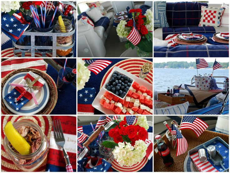 Memorial Day celebration on the pontoon, BBQ Sundae and Watermelon Feta Flag | homeiswheretheboatis.net #pontoon #patriotic #jar