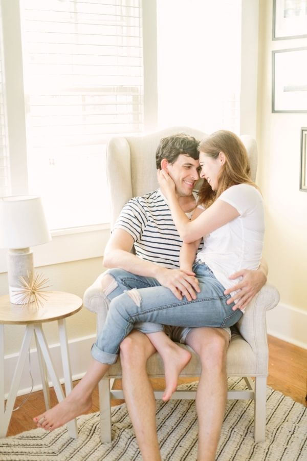 Little Rock At-Home Engagement Session: http://www.stylemepretty.com/2015/10/19/little-rock-at-home-engagement-session/ | Photography: Kati Mallory - http://www.katimallory.com/