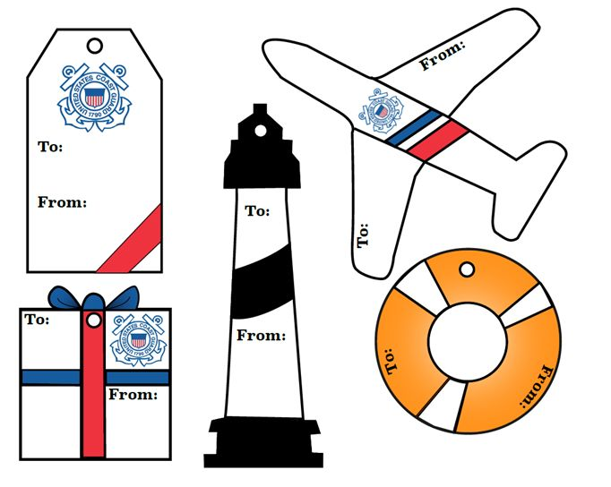 Spread Coast Guard cheer everywhere with these printable gift tags