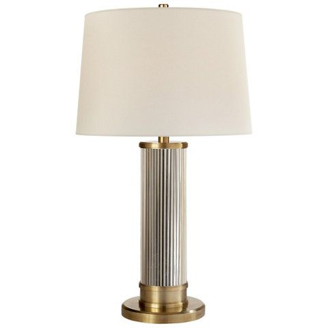 Allen Table Lamp In Natural Brass Table Lamps Lighting Products Ralph
