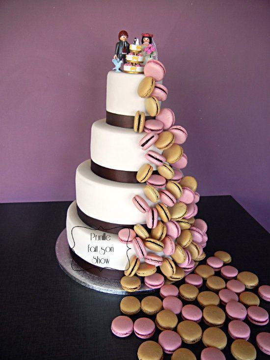 Wedding Cake Gateau De Mariage Cascade De Macarons