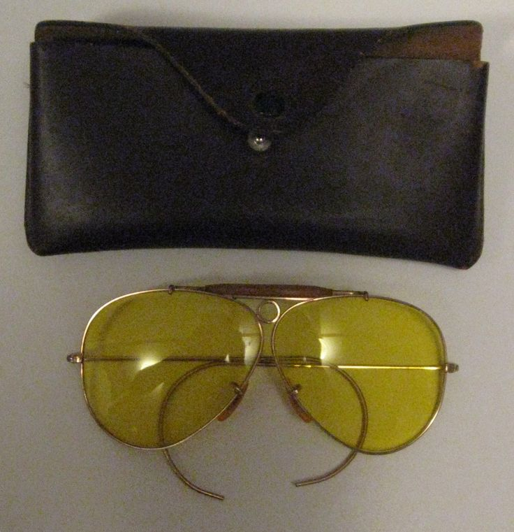 Vintage BAUSCH & LOMB B&L 1/10 12K Gold Filled Bullet hole Shooting Glasses