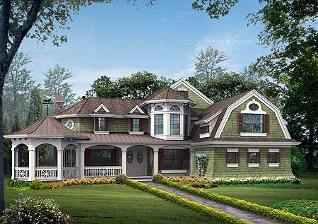 Beautiful design. Not a fan of the green color howeverCraftsman House, Floors Plans, Home Plans, Houseplans, Dreams House, Floor Plans, Squares Feet, Covers Porches, House Plans