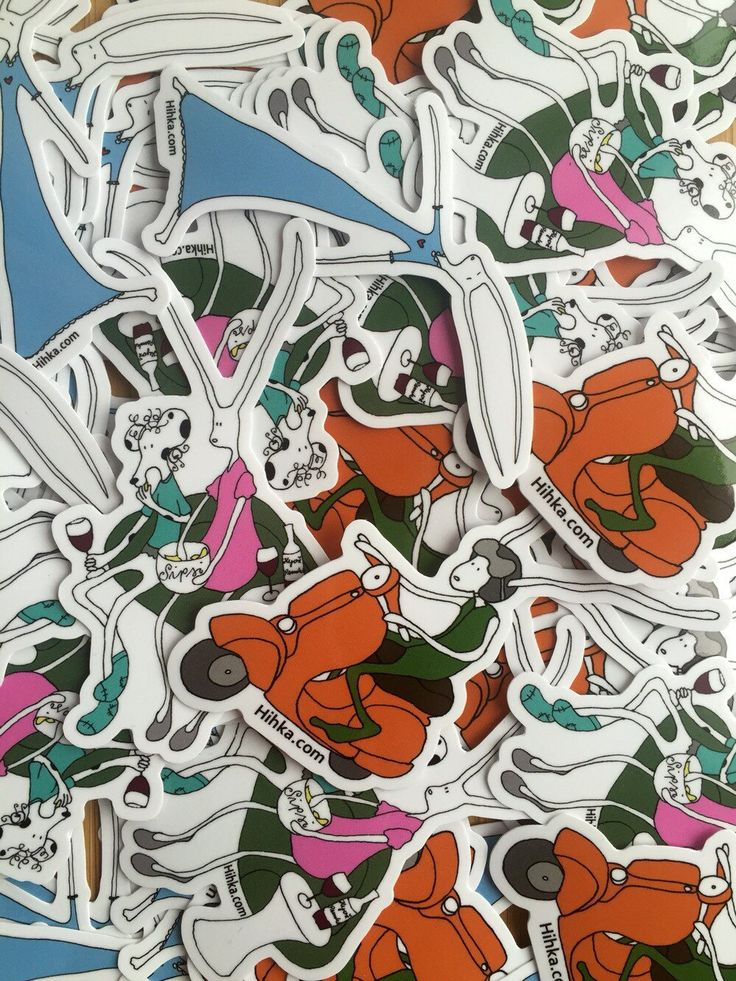 Hihka Tarrat/Stickers (incl. 3 kinds of stickers) Vespa, friends, flying. by Hihkashop on Etsy
