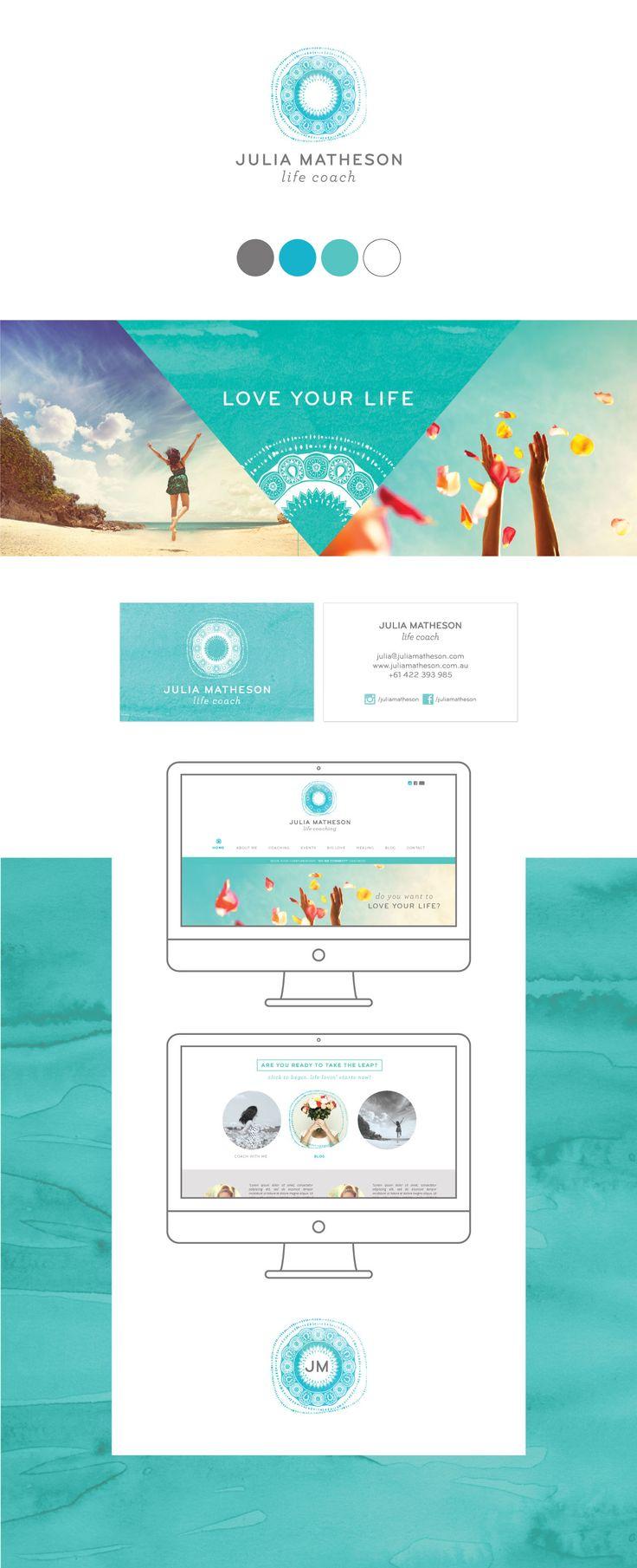 Julia Matheson | DWS branding & design. A fresh inspiring logo. Life coach logo. Turquoise and teal.