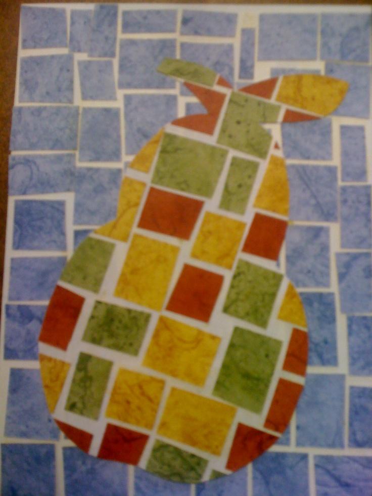 pear paper mosaic