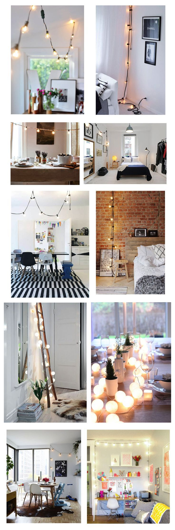 Decorating With Hanging Globe Lights Indoors | indoor light decor | how to decorate with hanging lights | indoor home decor | home decor tips and tricks | ideas for decorating with lights inside || Glitter, Inc.
