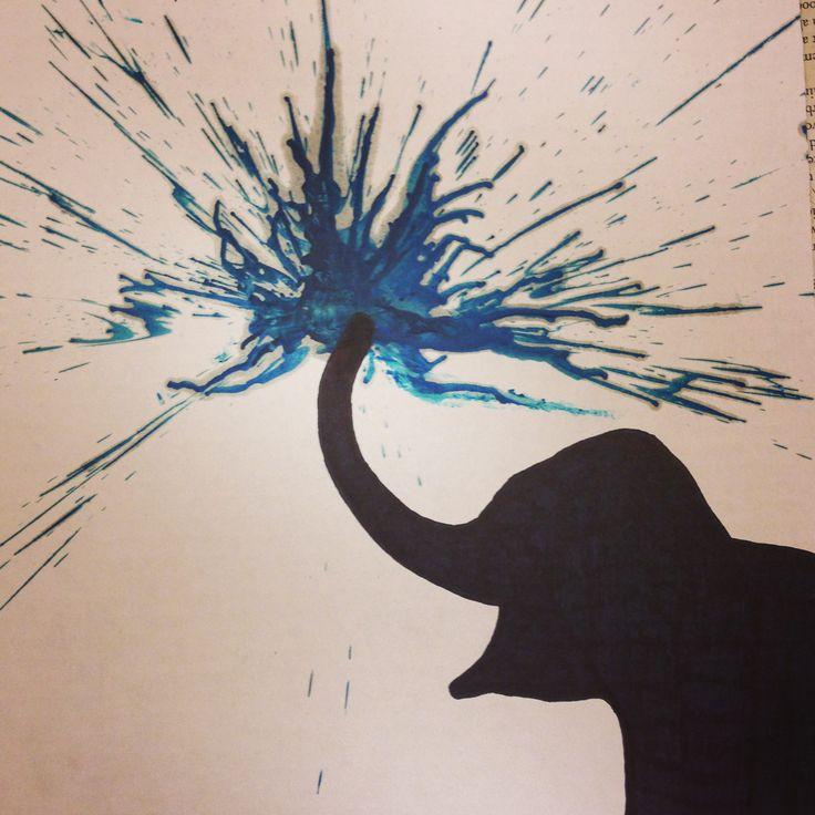 Elephant crayon art