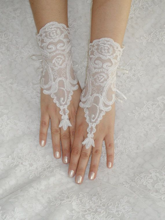 FREE SHIP Wedding Gloves lace gloves Fingerless by WEDDINGHome, $30.00