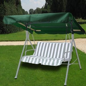 METAL PATIO SWING WITH CANOPY