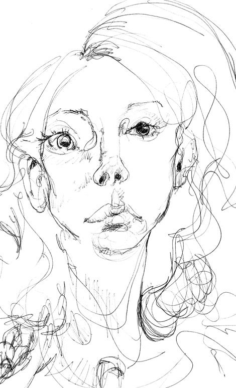 Contour Line Drawing Face : Images about blind contour on pinterest