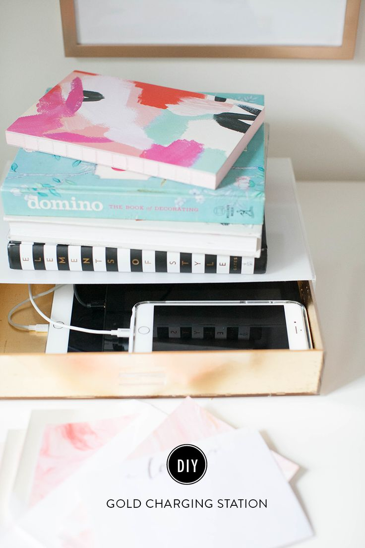 Read More on SMP: http://www.stylemepretty.com/living/2016/01/27/diy-charging-dock/
