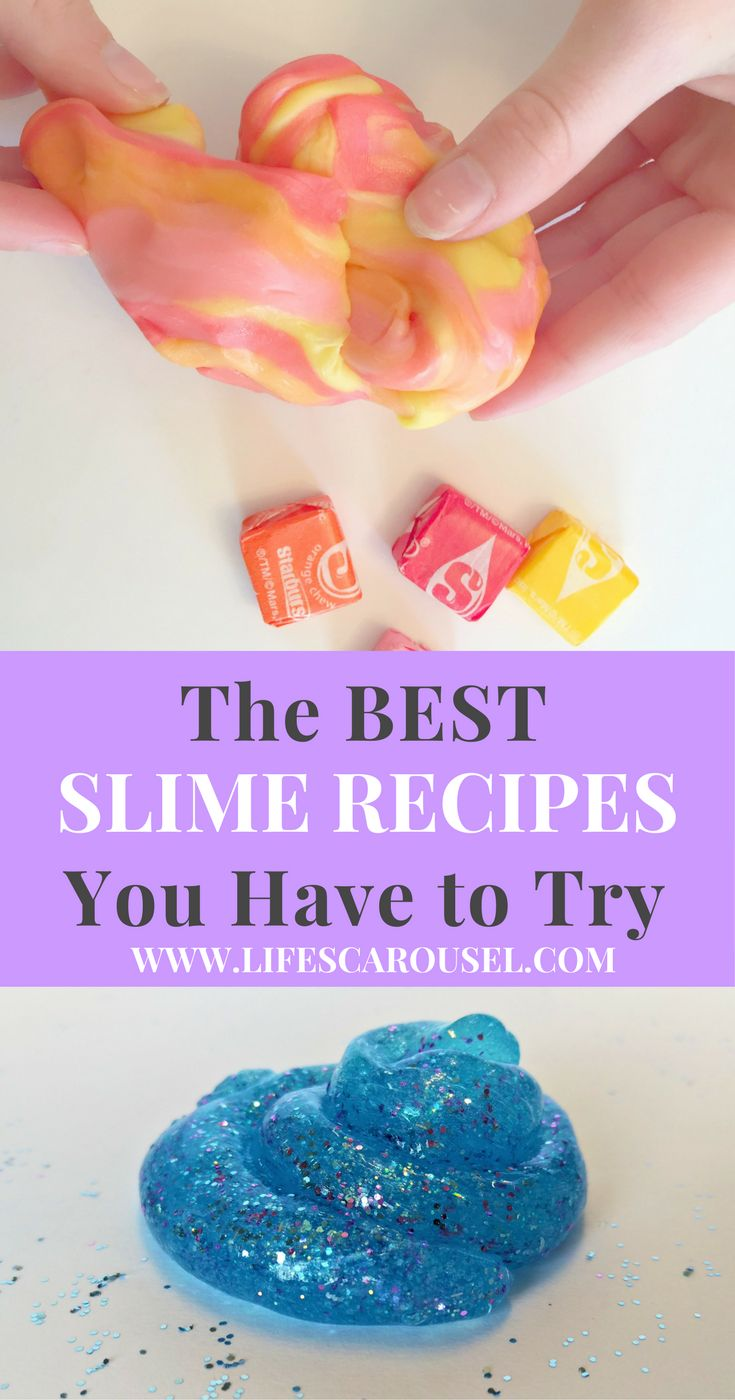 BEST Slime Recipes | A selection of the Best Slime Recipes to try with your child. Fun and easy kids activity to help keep your little one amused. Includes Borax and Glue Free Recipes!