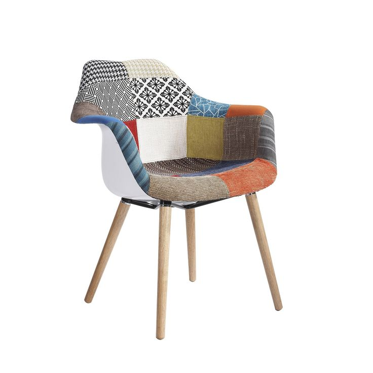 Silla TOWER WOOD ARMS -Patchwork Edition- (Sillas Icono ...