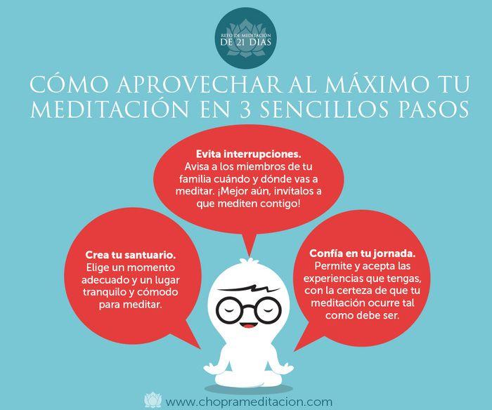 A continuación encontrarás algunos consejos para aprovechar al máximo la meditación diaria.