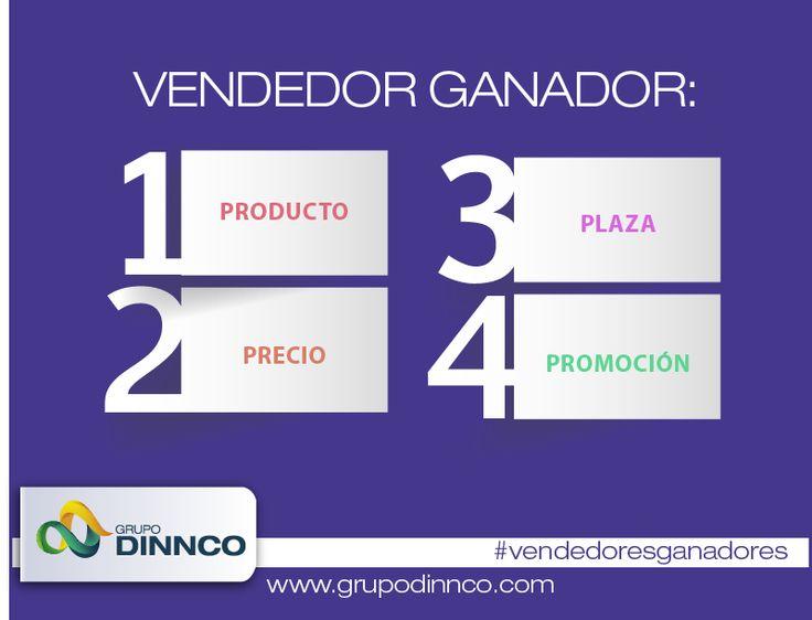 """Vendedores Ganadores: Las principales herramientas que componen la mezcla de Marketing se clasifican en cuatro grupos, conocidos como las """"cuatro P"""" del Marketing, Producto, Precio, Plaza y Promoción. #vendedoresganadores"""