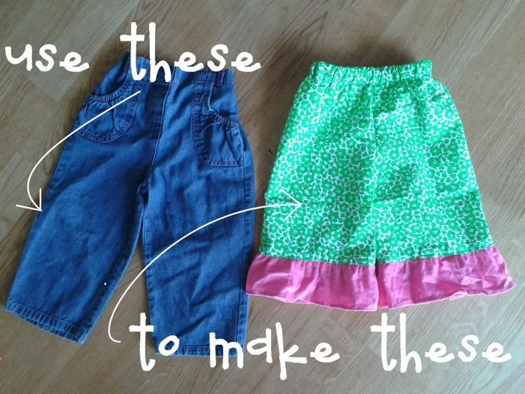 When I found out the gender of our third precious one was a girl, I knew I'd be all about making clothes. And a pair of ruffle pants is so very adorable, and so very easy to whip up in a nap …