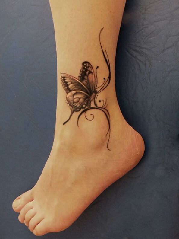 100 Ankle Tattoo Ideas For Men And Women Butterfly Ankle Tattoos Tattoos For Daughters Tattoos
