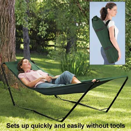 Portable Hammock from www.feelgoodstore.com.