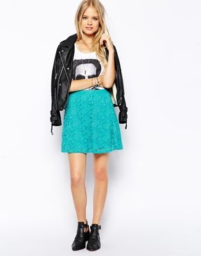 ASOS Skater Skirt In Lace