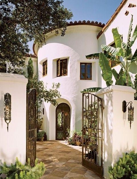 Beautiful Spanish Colonial Revival courtyard.