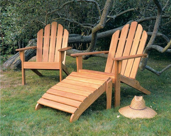 Fascinating Teak Adirondack Chair And Ottoman ~ http://lanewstalk.com/the-rustic-adirondack-chair/