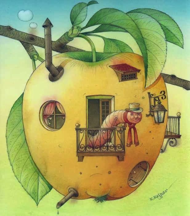 Animalarium - Worm in an apple