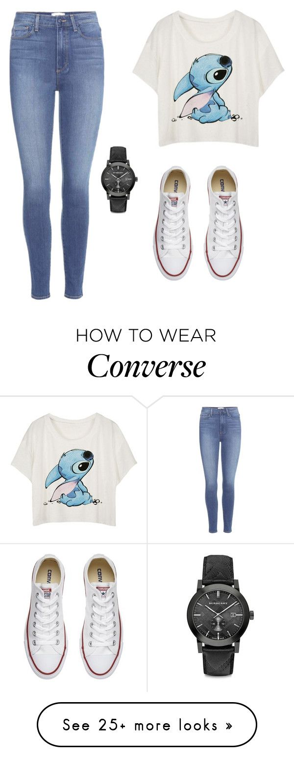 """""""stitch"""" by doremiaw on Polyvore featuring Converse, Burberry and Paige Denim"""