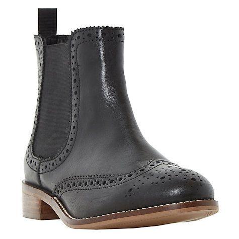 Buy Dune Quenton Brogue Chelsea Boots Online at johnlewis.com