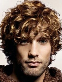 Curly men's hairstyle
