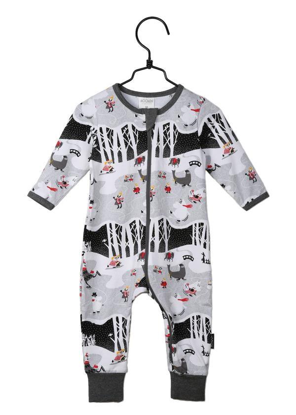 Moomin organic cotton baby sleepsuit MOOMIN ON