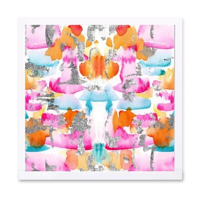 Oliver Gal 20523 Silver Confetti by Julianne Taylor Framed Art Print
