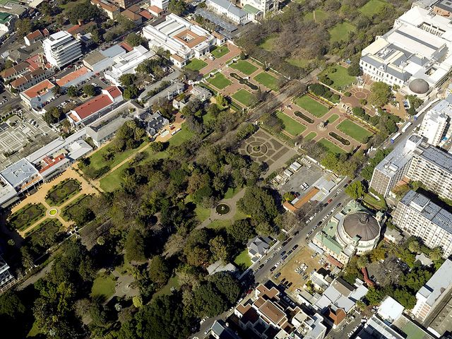 Aerial view of a Section of the Company Gardens, Cape Town 2008  Flickr - Photo Sharing!