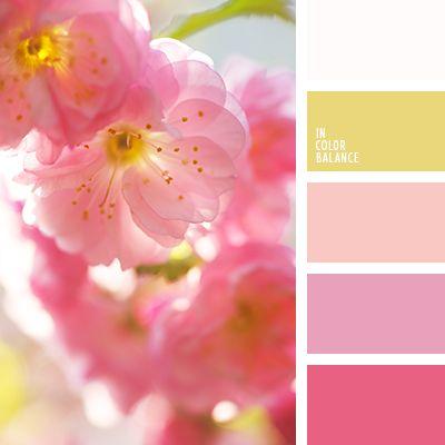 amarillo y blanco, blanco y amarillo, blanco y rosado, colores para una boda, gama de colores para boda, lila y amarillo, paleta de colores para la celebración de una boda, rosado fuerte, rosado pálido, rosado y amarillo, rosado y blanco, tonos cálidos para una boda, tonos rosados.