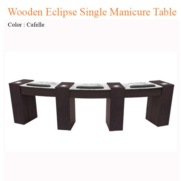 Wooden Eclipse Single Manicure Table with Fan - 42 inches