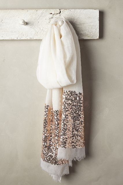 Glimmered Wool-Silk Scarf - anthropologie.com #anthrofave