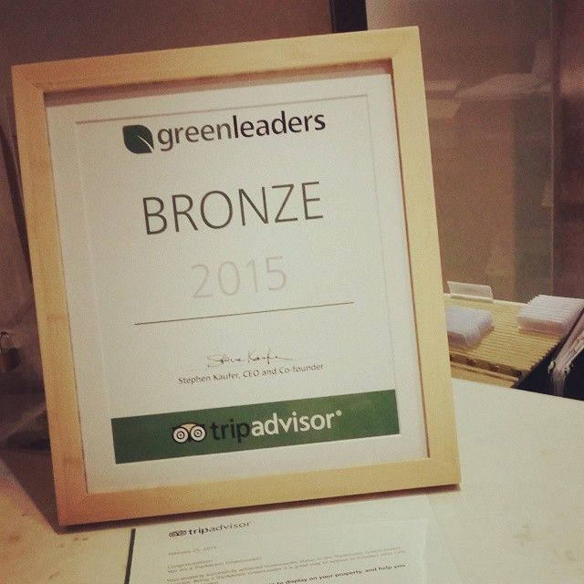 #CivitelOlympic is certified as a#GreenPartner #BronzeLevel on #TripAdvisor! #GreenLeaders