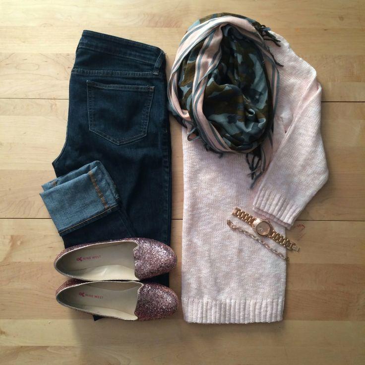 casual, weekend wear, blush, camo, loafers, glitter   IG: @whitecoatwardrobe